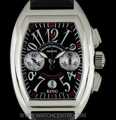 FRANCK MULLER S/S KING CONQUISTADOR CHRONO GENTS B&P 8005 CC KING  http://www.watchcentre.com/product/franck-muller-s-s-king-conquistador-chrono-gents-bp-8005-cc-king/6348  #FranckMuller #StainlessSteel #King #Conquistador #Chronograph #Gents #Wristwatch