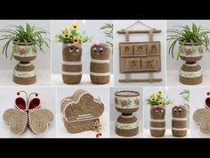 Pot Storage, Reuse Plastic Bottles, Jute Crafts, Potted Plants, Plant Pots, Lana, The Creator, Holiday Decor, Craft Ideas