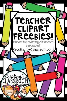 FREE clipart perfect for creating classroom resources for TpT and your classroom! Vibrant clipart would be perfect for classroom decor, bulletin board displays, back to school, teachers pay teachers resources, and classroom organization. Terms of use is included in each download and in my TpT Shop links. Click to view fun clipart freebies and more! Be sure to pin to save for later...#creating4theclassroom #clipart #clipartcute #tpt #classroomdecor
