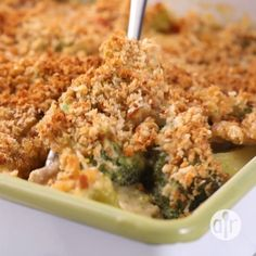 Healthy Broccoli Cheese Bake A more nutritious version of the classic casserole, made with mushrooms, peppers, and whole-wheat bread crumbs. Veggie Recipes, Vegetarian Recipes, Cooking Recipes, Healthy Recipes, Veggie Food, Cooking Tips, Fruit Recipes, Smoothie Recipes, Smoothies