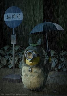 minions mashups my neighbor totoro <3