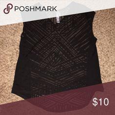 Ava & Viv Shirt (Target) Black/Semi Sheer - Curved Hem - Practically New only worn once Ava & Viv  Tops Tees - Short Sleeve