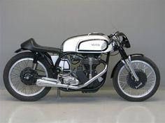1957 Norton Manx Café Racer Motorcycle - petrol tank, thing of beauty