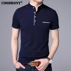 COODRONY Mandarin Collar Short Sleeve Tee Shirt Men 2017 Spring Summer New Top Men Brand Clothing Slim Fit Cotton T Shirts S7645-in T-Shirts from Men's Clothing & Accessories on Aliexpress.com | Alibaba Group