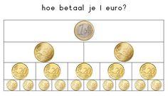Euros. Tabla para aprender el valor de 1€