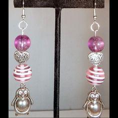 Spotted while shopping on Poshmark: Lampwork Beaded Penguin Earrings! #poshmark #fashion #shopping #style #Jewelry
