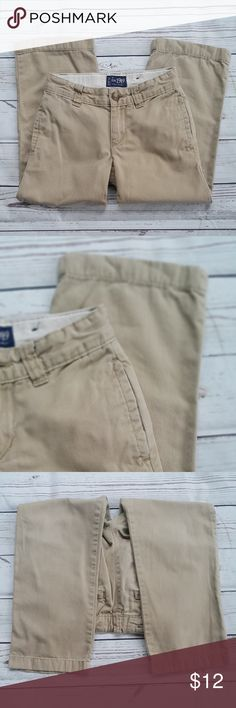 "Children's Place khaki pants w/adj waist Children's Place khaki pants with adjustable waist, 2 side-slit pockets, 2 rear pockets & button/zipper front closure. Barely worn...kiddo's belly grew too fast and he couldn't wear them! No wear at the knees or at the hem...kiddo is short so pants were always rolled up. Excellent pre-owned condition from a pet & smoke-free home.  Size 5  Measurements are approximate: waist: 11"" inseam: 18"" Children's Place Bottoms"