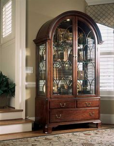American Drew Cherry Grove Breakfront China Cabinet | FURNITURE ...