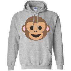 Monkey Face Emoji Hoodie