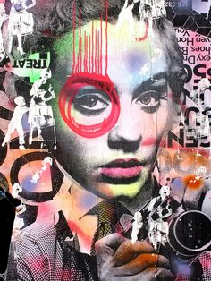 Street Art Graffiti Urban Design Ideas For 2019 Collages, Collage Art, Graffiti Art, Graffiti Lettering, Portrait Art, Portraits, Urbane Kunst, Pop Art Wallpaper, Street Art