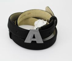 LODIS ACCESSORIES A Block Initial Adjust Black Belt ONE SIZE #LODISACCESSORIES