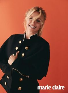 Britney Spears is all smiles in military inspired jacket from Burberry