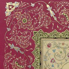 Tezhip#illumination#halkâr#ıslamicart#turkishart#ottoman#gold#altın#münhani#rûmi#tasarım#design#handmade#sazyolu#sanat#iğneperdahı