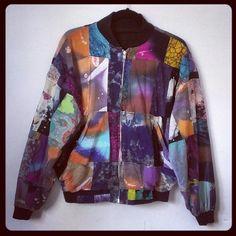 Mixed tie dye jacket