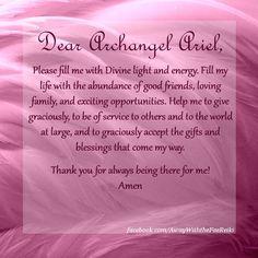 Archangel Ariel a Prayer
