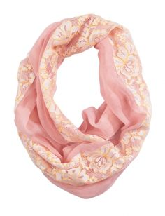 Pastel Lace Fabric Mix Scarf