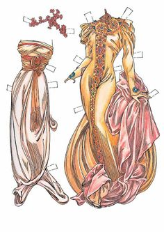 Paper Dolls In THe Style Of Mucha by Charles Ventura - Papírbabák Alfons Mucha stílusában - Maria Varga - Picasa Web Albums