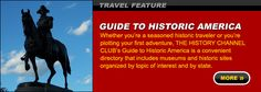 Get information on different Historic sites to travel in America