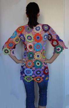 Crochet hippie retro vintage style boho gypsy floral por GlamCro, $500.00