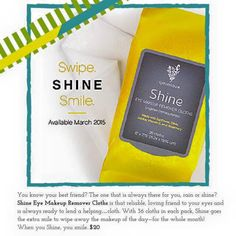 New younique products! March 2015 Shine make up remover cloths $20 Check it out here: LashLoveSociety.com