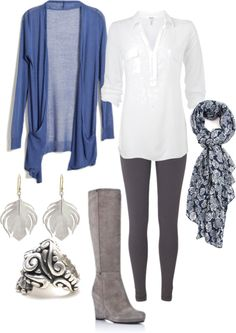 """Blues and Grays"" by janiebabyy on Polyvore"