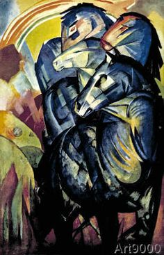 Franz Marc - The tower of blue horses