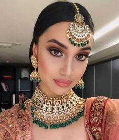 bridal makeup – Hair and beauty tips, tricks and tutorials Indian Wedding Makeup, Indian Wedding Jewelry, Bridal Hair And Makeup, Indian Makeup Looks, Indian Girl Makeup, Indian Party Makeup, Indian Bridal Party, Pakistani Bridal Jewelry, Indian Jewelry Earrings