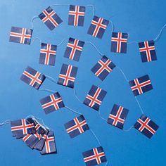 Flags of Iceland on Strings * Read more at the image link. This link participates in Amazon Service LLC Associates Program, a program designed to let participant earn advertising fees by advertising and linking to Amazon.com. Iceland Flag, Outdoor Flags, Flag Decor, Program Design, Lawn And Garden, Outdoor Gardens, Shower Ideas, Bridal Shower, Image Link