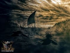 Vikings voyage. The life of Vikings... sailing towards unknown lands, unknown Seas... Let the Gods protect your path.