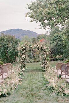Wildflower-filled ceremony arch. Photo: @jharperphoto Autumn Inspiration, Wedding Inspiration, Swooning Over, Ceremony Arch, Event Services, Vermont, Old World, Garden Wedding, Wild Flowers