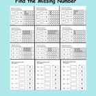This is a PDF file with 12 printable Find the Missing Number pages.   A great package for classwork, homework or math centres.  These pages are s...