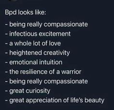 Wind Of Change, Borderline Personality Disorder, Literally Me, Bpd, Psychology Facts, Intuition, Compassion, Mental Health, Appreciation