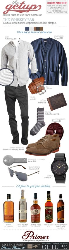 The Getup: The Whiskey Bar & Exclusive 20% Off at us.levi.com | Primer