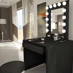the broadway lighted vanity mirror is the most functional versatile