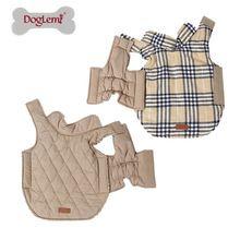Doglemi Small to Large Dog Clothes Winter Warm Reversible Dog Jacket Plaid Dog Coat Windproof Pet Dog Clothes Elastic Belly 3XL(China)