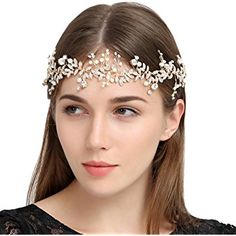 FAYBOX Handmade Crystal Rhinestones Wedding Head Band Bridal Hair Accessorie Headpieces
