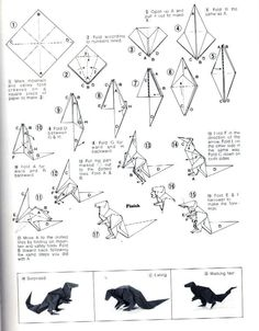 print oragomie | How to make an origami ultrasaurus toy. origami marijuana leaf