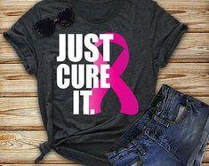 Just Cure It Pink Ribbon T-Shirt - Breast Cancer Shirt - Cancer Awareness Shirt - Cure Cancer - Cancer Shirt - Unisex Bella Canvas Shirt Breast Cancer Shirts, Cancer Awareness Shirts, Breast Cancer Walk, Breast Cancer Support, Printed Shirts, Cure, Bella Canvas, Cricut Ideas, Shirt Ideas