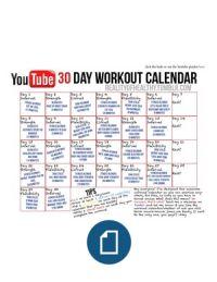 Workout Calendar Free Printable  Google Search  Work It