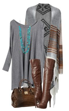 """""""Grey & Brown"""" by meltog ❤ liked on Polyvore featuring David Jones, Penny Loves Kenny and Ten Thousand Things"""