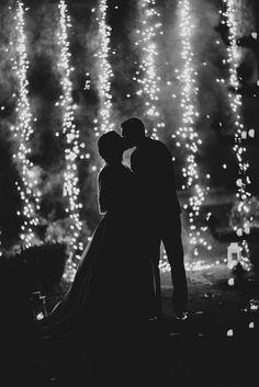 Fireworks Wedding Reception Exit