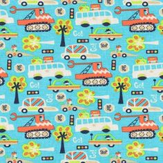 Trikoo Joy AUTOT turkoosi Fabrics, Tejidos, Cloths, Fabric, Textiles