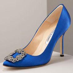 Manolo Blahnik Something blue ;)