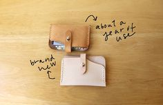 Etsy の Handstitched Leather Card Wallet by infusion Leather Card Wallet, Leather Case, Vegetable Tanned Leather, Things To Buy, Hand Stitching, Bag Accessories, Purses And Bags, Etsy, Sewing