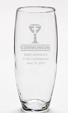 Communion Decorations Personalized Bud Vase