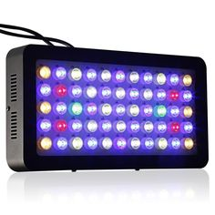 Aquarium LED Light ICOCO 55x3W 165W LED Dimmable Full Spectrum Aquariam Light for Coral Reef LPS/SPS Growth Fish Tank Lighting Blue and White Light