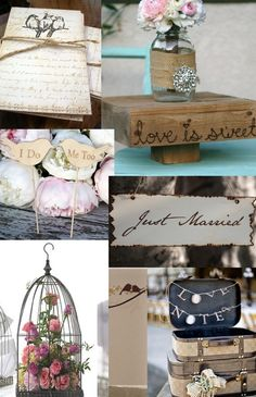 Shabby Chic Wedding Ideas - DIY - Decoration, Decor, Flowers