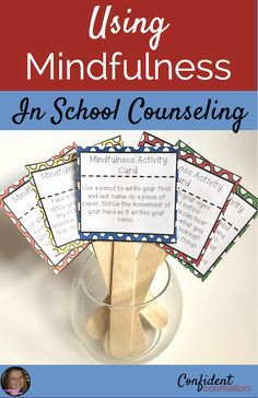 Using Mindfulness In School Counseling with videos, books, guided meditation, brain breaks, and deep breathing exercises. Great ideas from Counselor Chelsey!https://confidentcounselors.com/2018/01/22/using-mindfulness-in-school-counseling/?utm_campaign=coschedule&utm_source=pinterest&utm_medium=Confident%20Counselors&utm_content=Using%20Mindfulness%20In%20School%20Counseling
