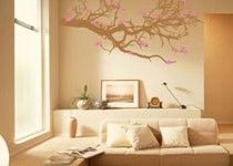 Wall decals.  It would be fun if you could change out the foliage seasonally!
