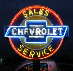 Chevrolet Neon Sign Tipton, MO